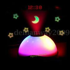 LED Color Change Projector Star Sky Night Light Lamp Bedroom Digital Alarm Clock