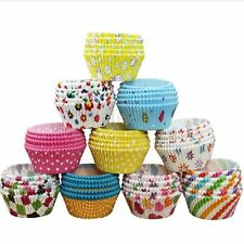 100 X Pirottini Carta Oleata Cupcake Cases per Torta / Muffin Colori Misti