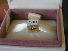 ORIGINALE Pandora s925 Sterling in Argento e Oro I Love You Charm