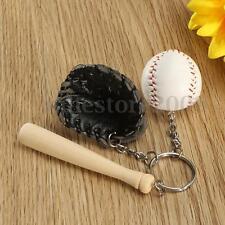 Novelty Baseball Glove Bat Key Chain Sports Keyring Keychain Christmas Gift New