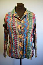 ANOKHI DESIGNER TOP TRUE VINTAGE HIPPIE PSYCHEDELIC ARTY SHIRT COTTON 12 14 M