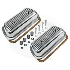 VW Bug Bus Ghia Bolt On Aluminum Engine Valve Cover Set AC101460