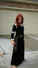 Princess Merida  Brave cosplay Scottish princess dress  green girls 10-12