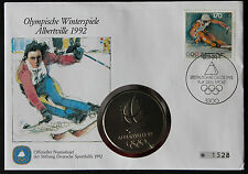NUMISBRIEF OLYMPISCHE WINTERSPIELE OLYMPIC GAMES ALBERTVILLE FRANCE 1992