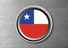 Chile flag sticker quality 7 year water & fade proof vinyl car ipad