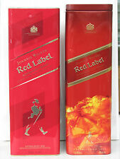 2pc Johnnie Walker Red Label empty tin box case scotch whisky Scotland used rare