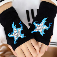 Anime Black Rock Shooter Cosplay Cotton Knitted Gloves Fingerless Mittens Gift