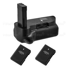 Battery Grip for Nikon D5100 D5200 D5300 + 2x EN-EL14 Li-Ion Batteries