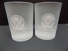 Set of 2 Jägermeister Frosted/Opaque 2cl Marked Shot Glasses-Brand New!
