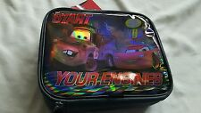 Disney Pixar Cars 2 Insulated Lunch Box NWT Lightning McQueen Mater #95