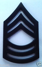 US ARMY RANK E8 MASTER SGT (SUBDUED) Military Veteran Hat / Collar Pin P12755 EE
