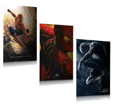 SPIDER-MAN 1, 2 & 3 - TEASER MOVIE POSTER SET (3 FULL SIZE MOVIE POSTERS)