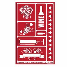 Armour Reusable Over n Over Glass Etching Stencil - ONO Wine Time