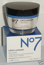 *BRAND NEW IN BOX* Boots No 7 LIFT + LUMINATE SPF15 Day Cream 1.6 floz (50ml)