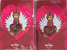 Hard Rock Cafe PRAGUE 2015 Valentine's Day PIN w/Card Winged Heart Guitar LE 250