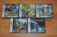 Nintendo DS 5 Game Lot Bundle Pokemon Conquest Need For Speed Nitro Mario Sonic