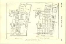 1927 New Premises In Fenchurch Street Basement Ground Floor Plans And Sections