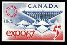 1967 Expo67 Montreal Canada exposition enlarged stamp postcard