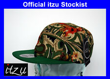 BNWT - RARE - I Z  Co - 5 Panel Snapback Cap Hat Snap Back All Over Multi Print