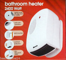 2400W Wall Mount Bathroom Fan Heater