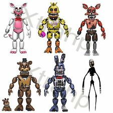 "New Set Of 6 Five Nights At Freddy's 5"" Funtime,Nightmare Chica,Nightmare Bonnie"