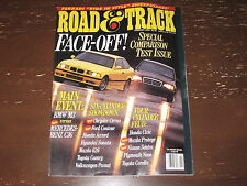 ROAD & TRACK MAGAZINE -- FEB. 1995 -- FACE-OFF! TEST ISSUE -- FREE SHIPPING!!!