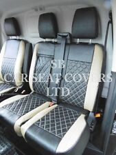 TO FIT A FORD TRANSIT CUSTOM VAN, SEAT COVERS, 2016, BEIGE / BK BENTLEY DIAMOND