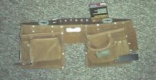CTA CHICAGO TOOL AUTHORITY LEATHER WORK APRON 13 POCKETS AND LOOPS SUEDE