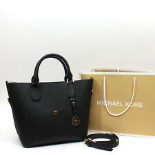 NWT Michael Kors Greenwich Saffiano Leather Large Grab Bag Satchel Handbag Black