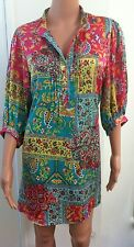 CAROLINE MORGAN Stunning Womens Tunic Shirt Dress Size:10/12