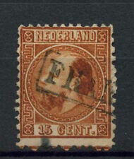 Netherlands 1867--9 SG#13, 15c Chestnut P12.5x12 Used #A72889