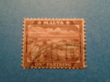 Malta: 1901 QV ¼d Red-Brown Definitive. SG31a. Wmk Crown CA. P14. Used.