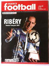 France Football du 18/12/2007; Ribéry joueur Français de l'année/ Mondial des cl