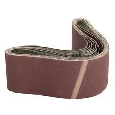 10 Pack 80 Grit 915x100mm 4x36'' Sander Sanding Belt Aluminium Oxide Abrasive
