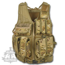 MOLLE TACTICAL LA STYLE PISTOL SWAT ASSAULT VEST MTP MULTICAM PALS AIRSOFT