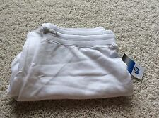 SJB Active White M Medium Sweat Pants Drawstring Waist New St John's Bay