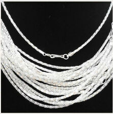 Lots 20-1000pcs Silver/Gold plated Hollow Snake Chain Necklace Clasp Long,16.5""