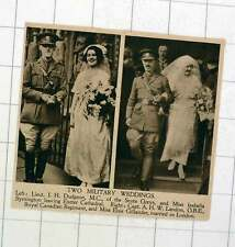 1920 Lt Jh Dudgeon Weds Isabella Symington Captain Landon Weds Miss Elsie Gillan