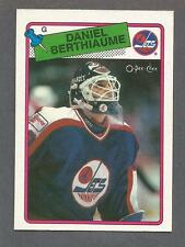 1988-89 OPC O-Pee-Chee Hockey Daniel Berthiaume #142 Goalie Winnipeg Jets NM/MT