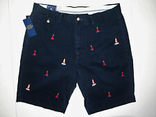 Polo Ralph Lauren classic fit lighthouse embroidered chino shorts size 34 new