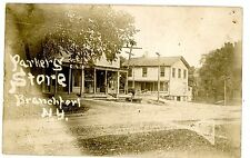 Branchport NY - PARKERS GENERAL STORE & POST OFFICE - RPPC Postcard Keuka Lake