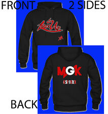 Hoodie Hip Hop Music, MGK, Lace Up 2 Side size M (Black)
