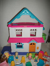 Fisher Price Loving Family Dollhouse Doll House Furniture People Fireplace Beds
