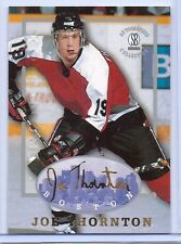 JOE THORNTON 1997 AUTOGRAPHED COLLECTION ROOKIE CARD! #1 OVERALL PICK! NHL MVP!