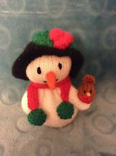 KNITTING PATTERN - Christmas Frosty snowman chocolate orange cover or 15 cms toy