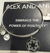 ALEX AND ANI DISNEY STAR WARS IMPERIAL CREST BANGLE SILVER -NEW W/TAGS