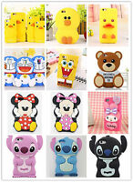 3D Luxury Cartoon Cute Animal Toy Soft Silicone Rubber Gel Warm Phone Case Cover