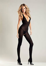BeWicked B22 Halter Top Body Stocking (Black;One Size)