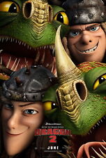"027 How to Train Your Dragon 2 - 2014 Hot Movie Film 14""x21"" Poster"