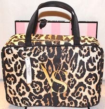 Victoria's Secret Leopard Travel Hanging Organizer Cosmetic Case Bag NWT